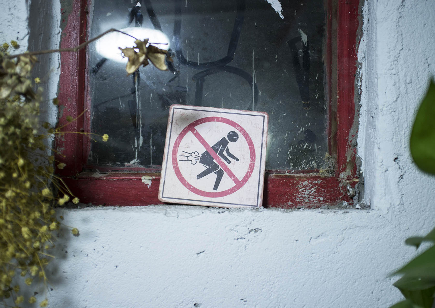 No farting sign in the local pub.