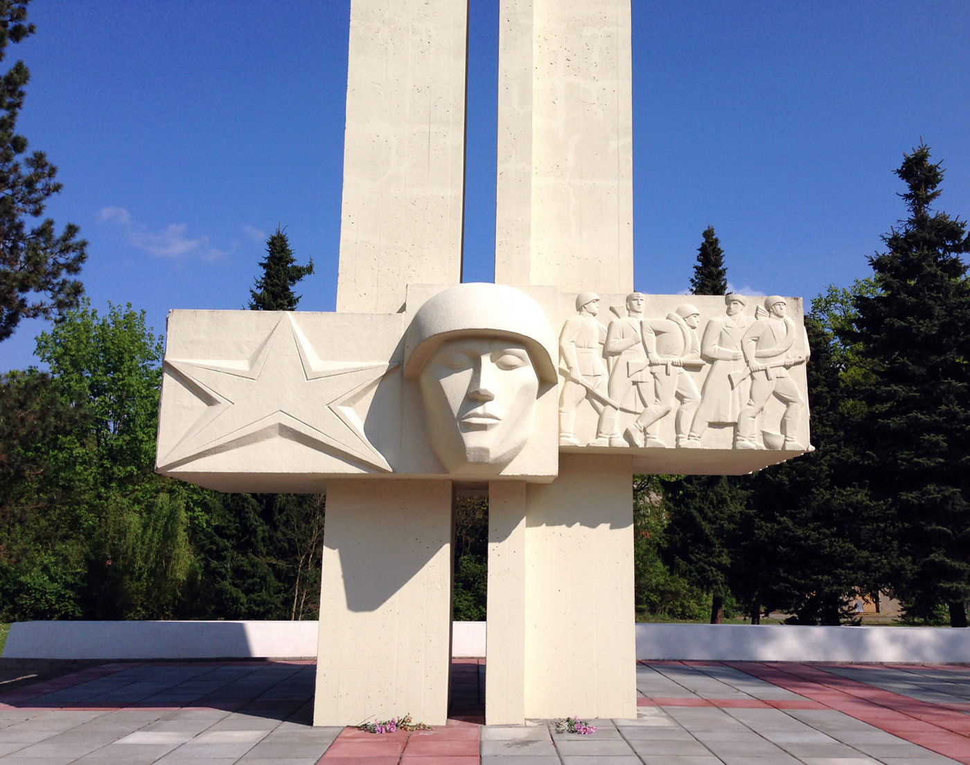 Memorial of the soviet soldiers in the forest.