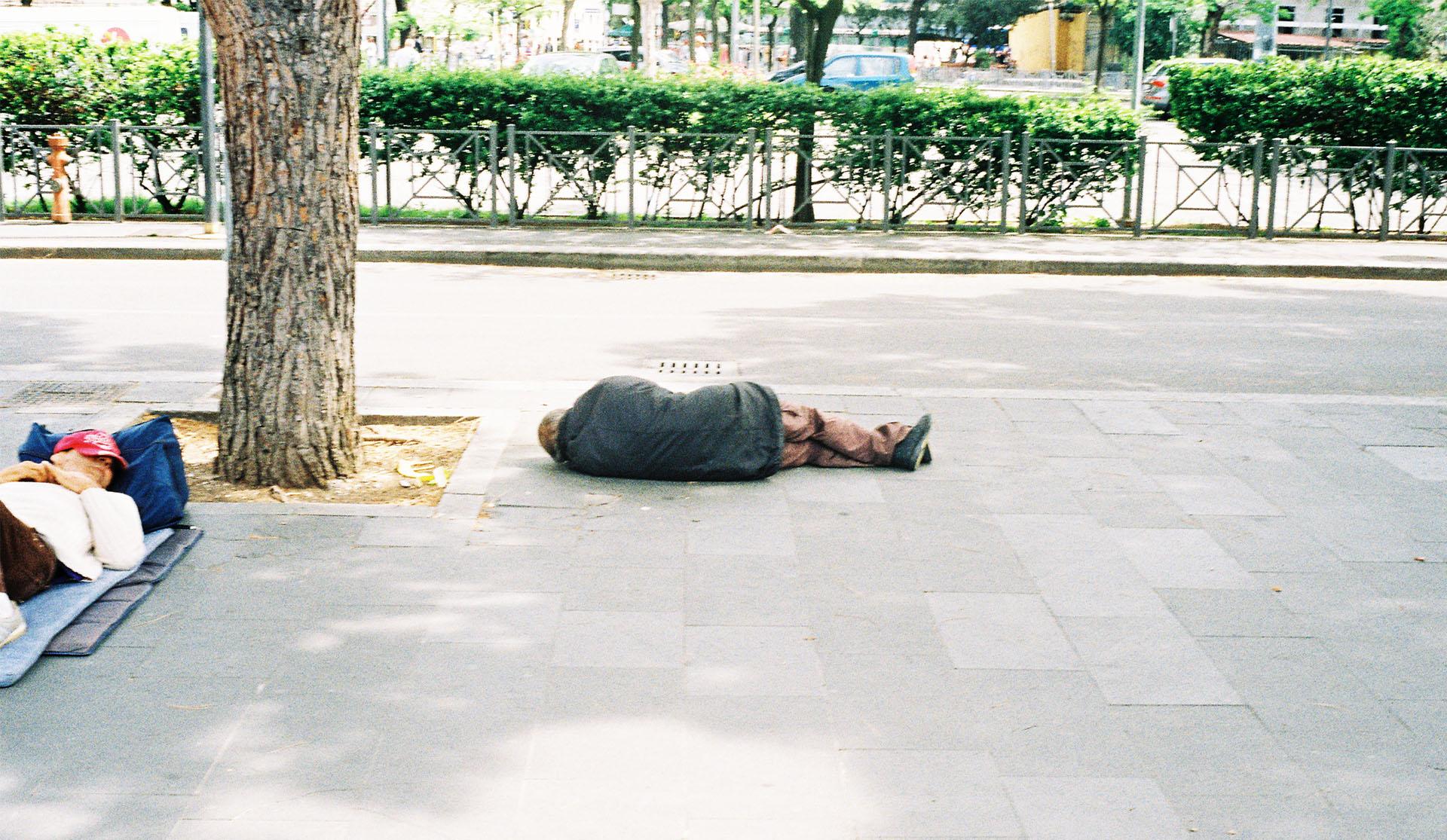 Sleeping locals.