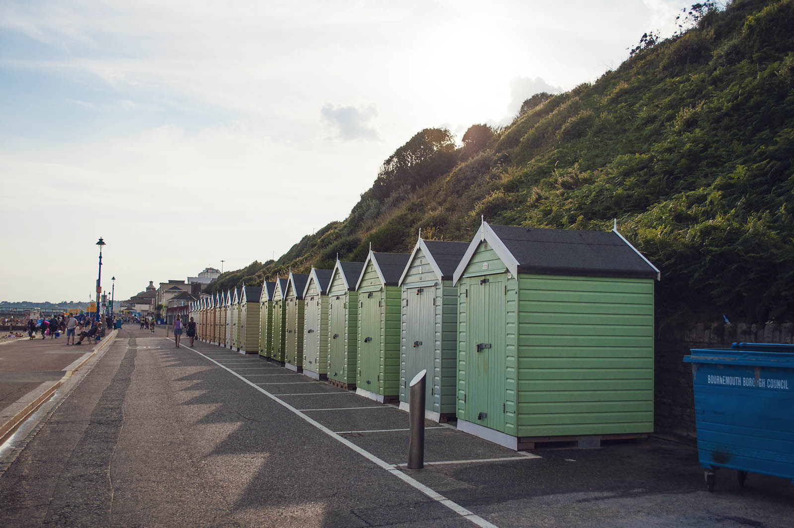 The colourful huts.
