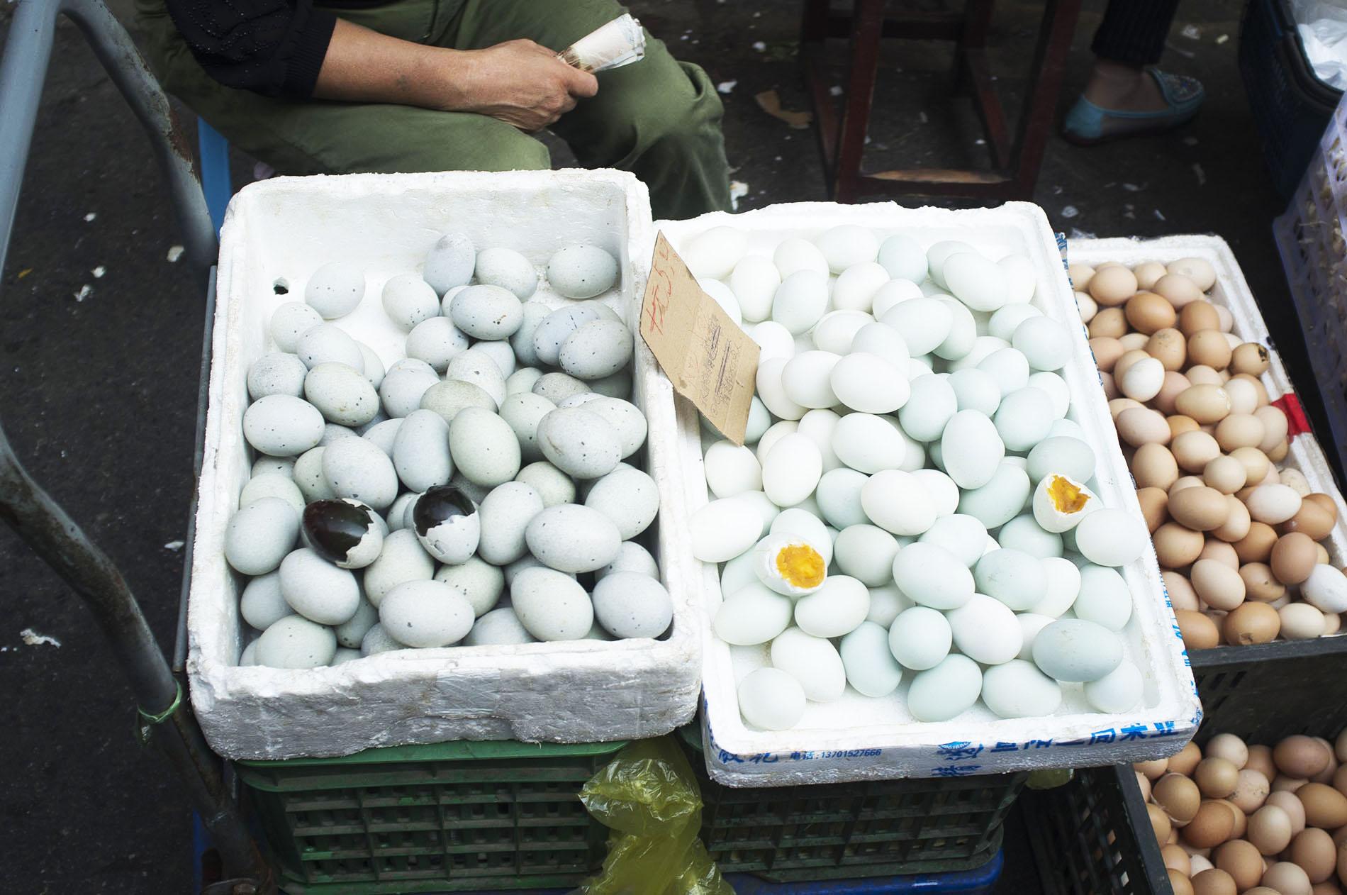 Century black eggs.