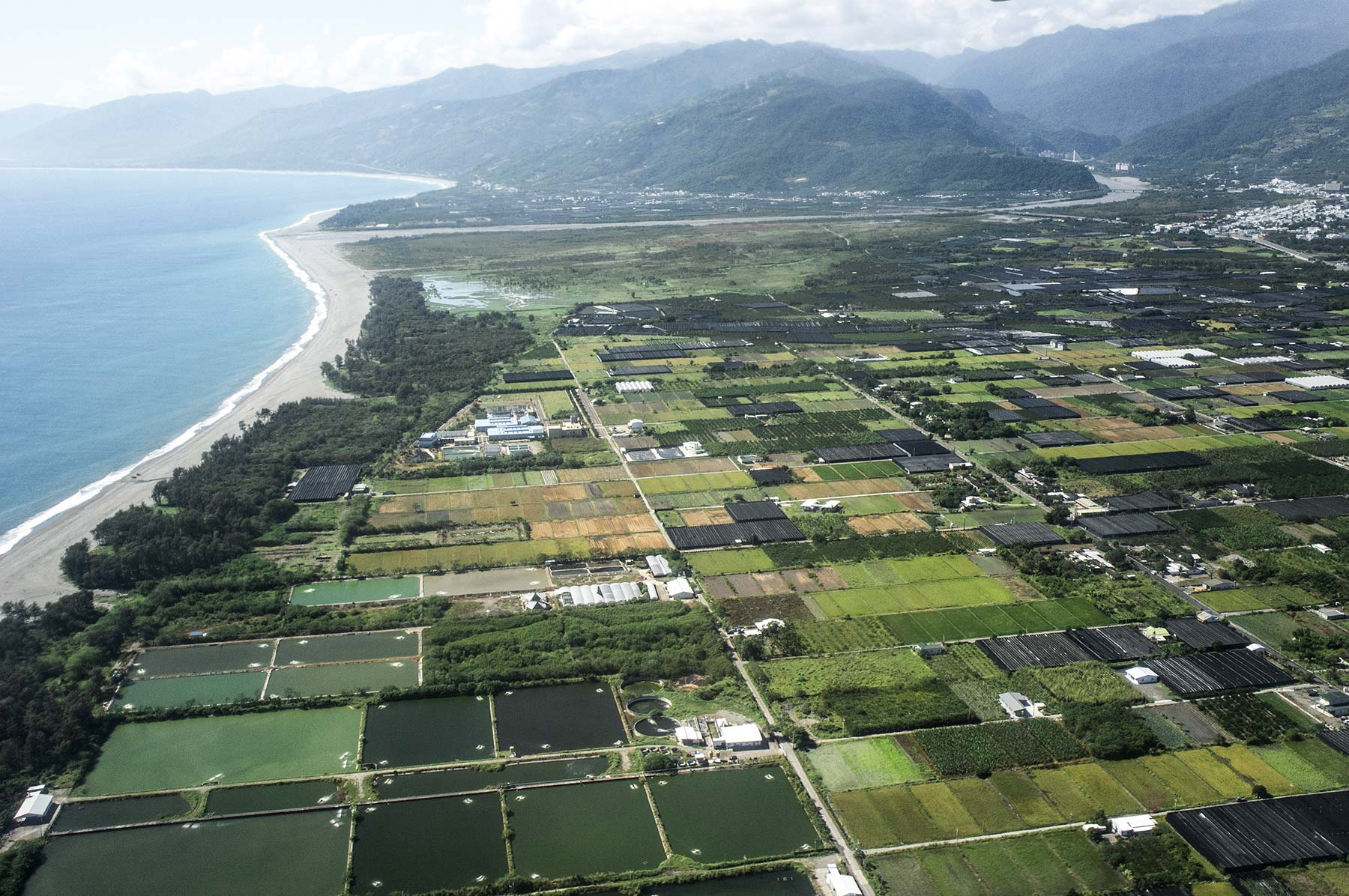 Taitung as viewed from the plane.
