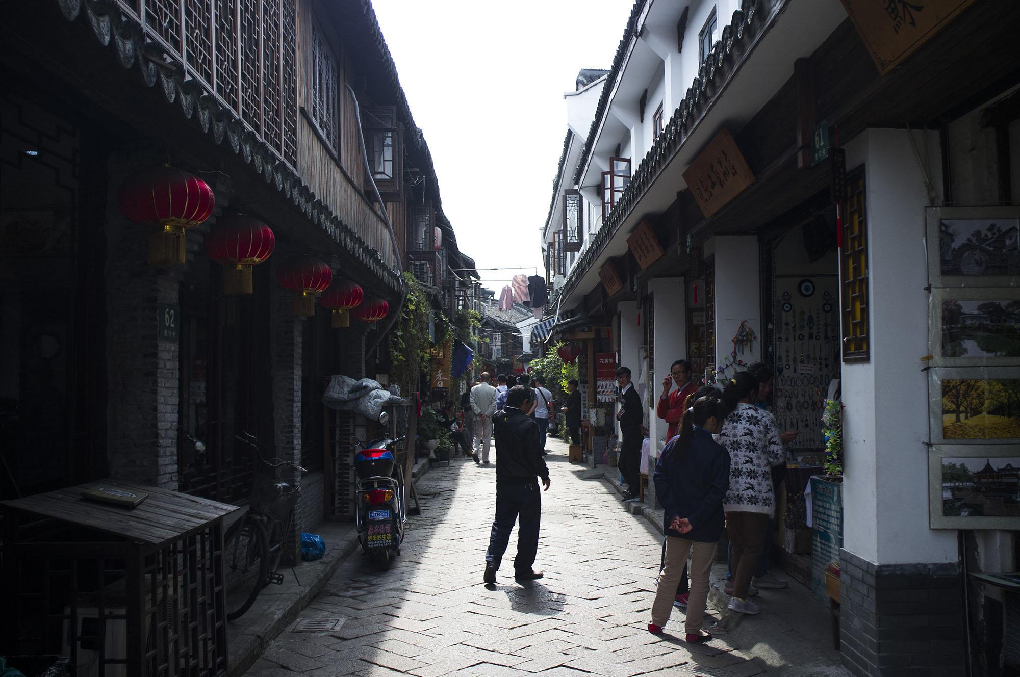 Market road.