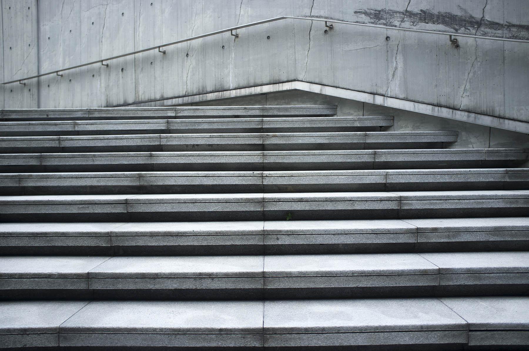 Guangzhou opera house staircase.