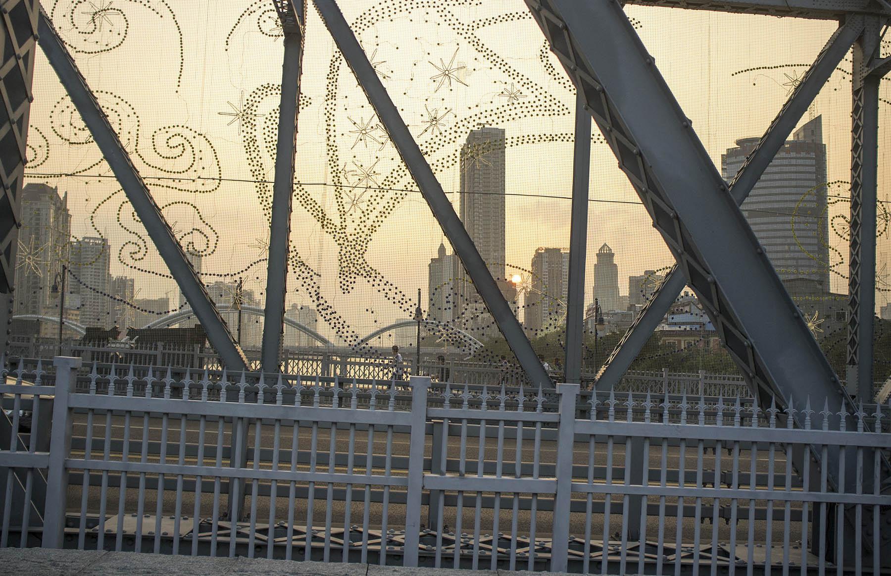 Evening on the bridge.
