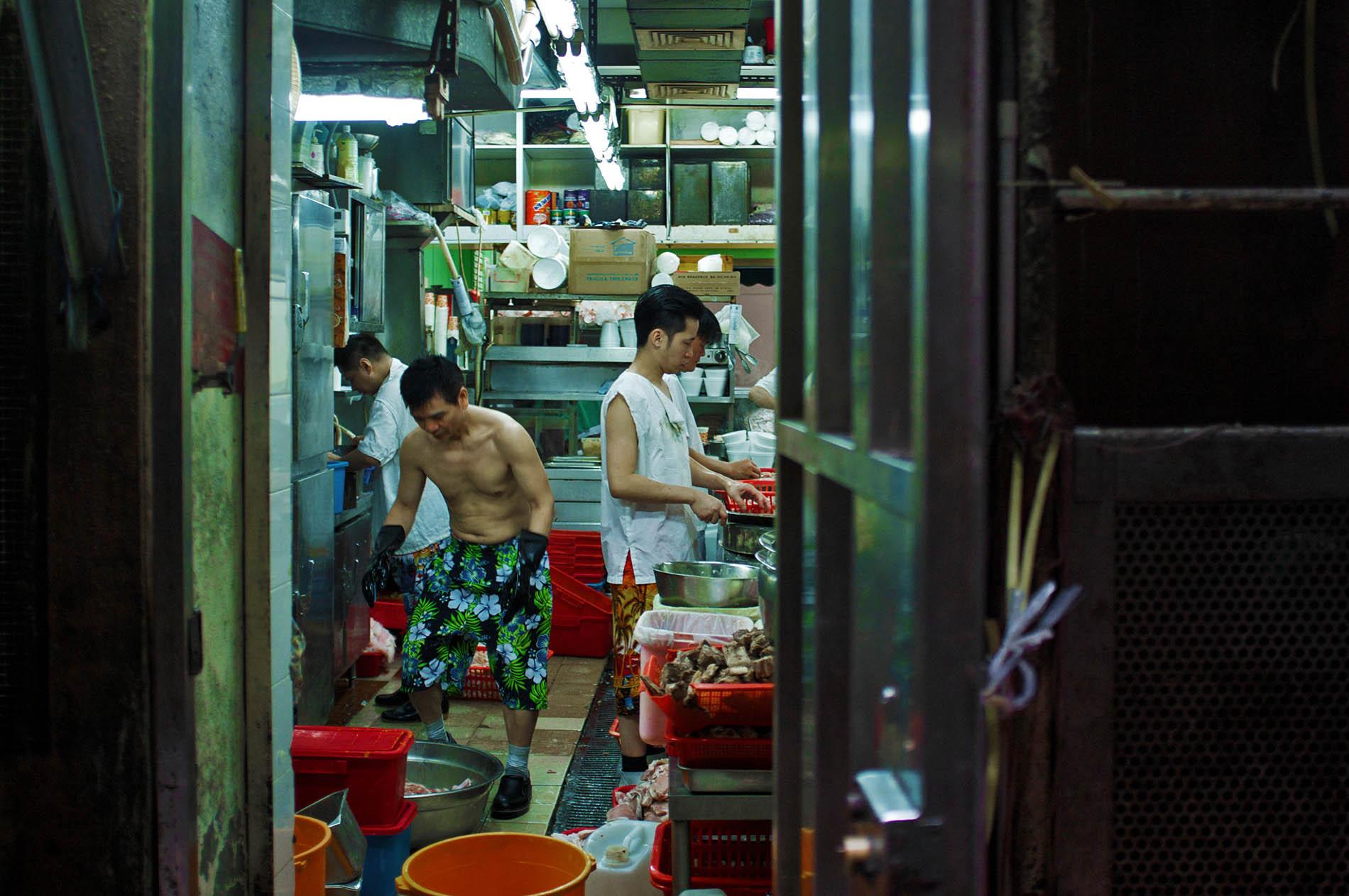 Restaurant employees.