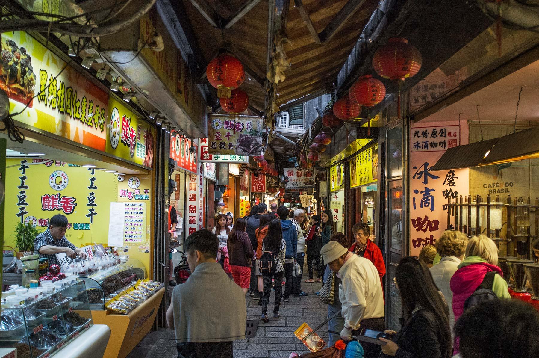 Jiufen Old Street market.
