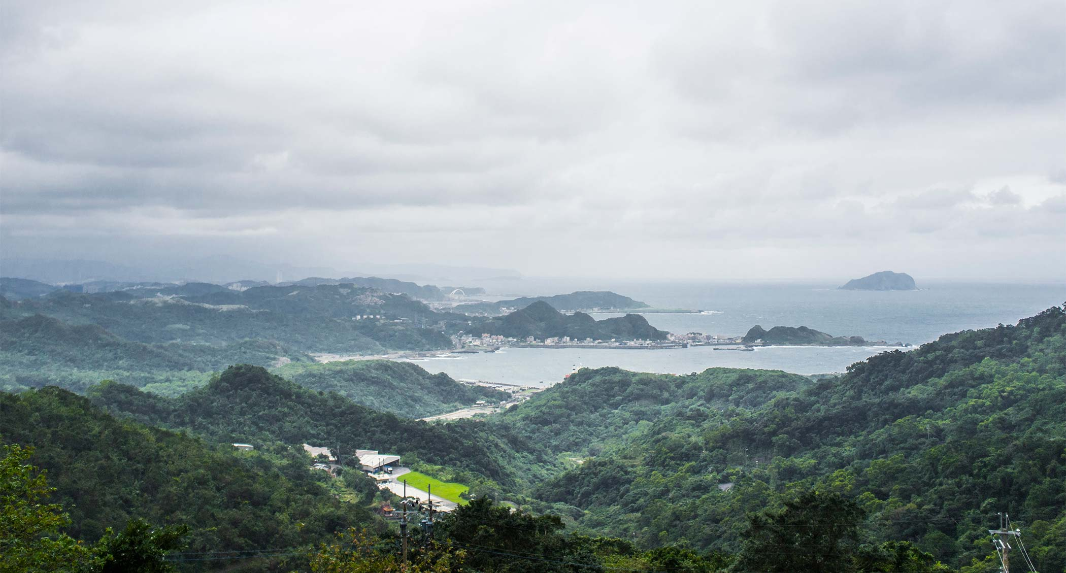View over the harbour from Jiufen.