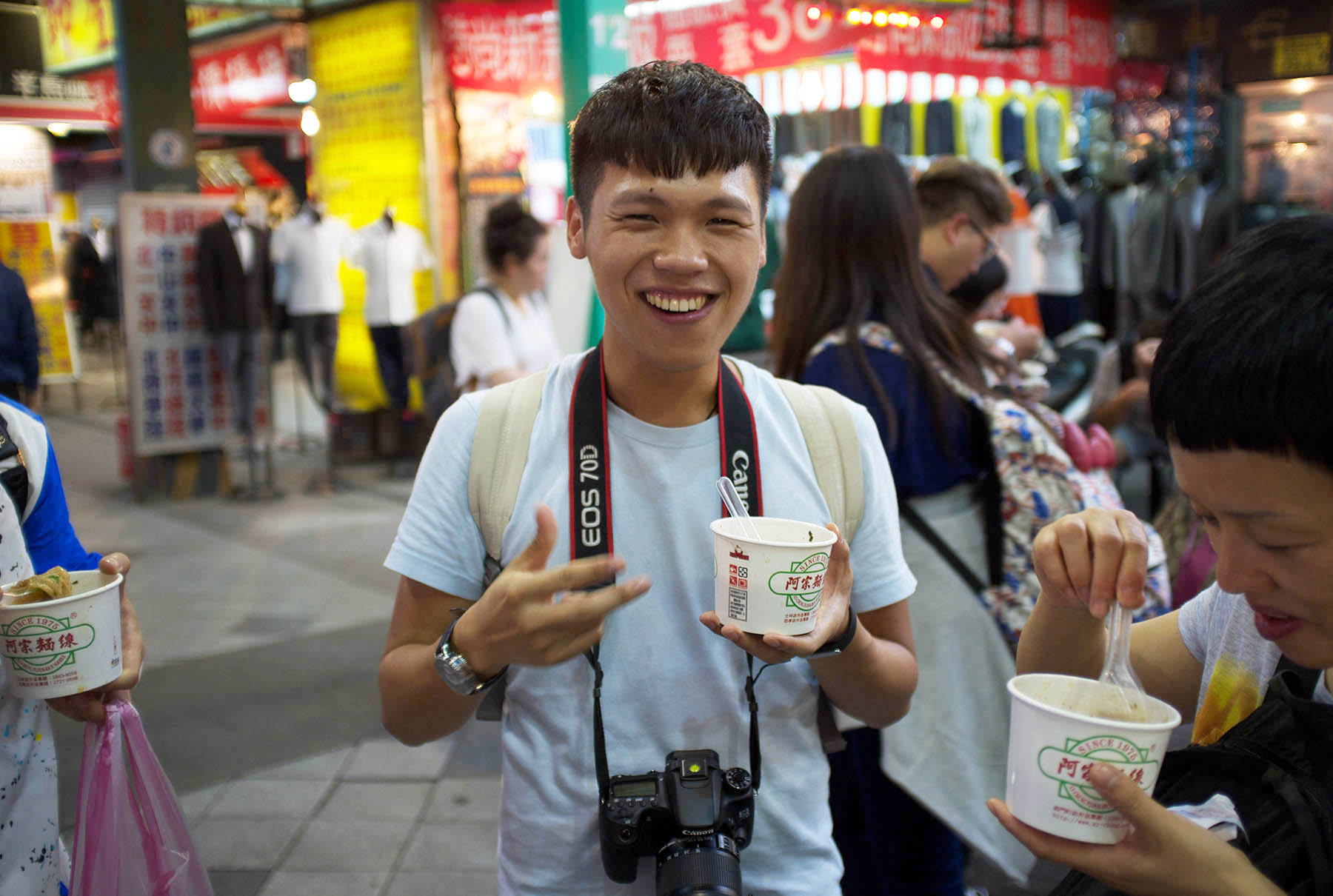Jimmy in Ximending Shopping Area.