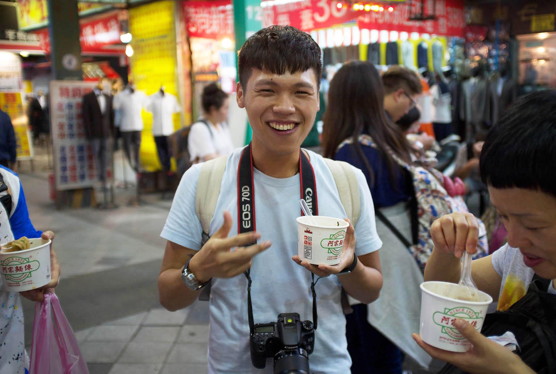 Jimmy in Ximending Shopping Area.