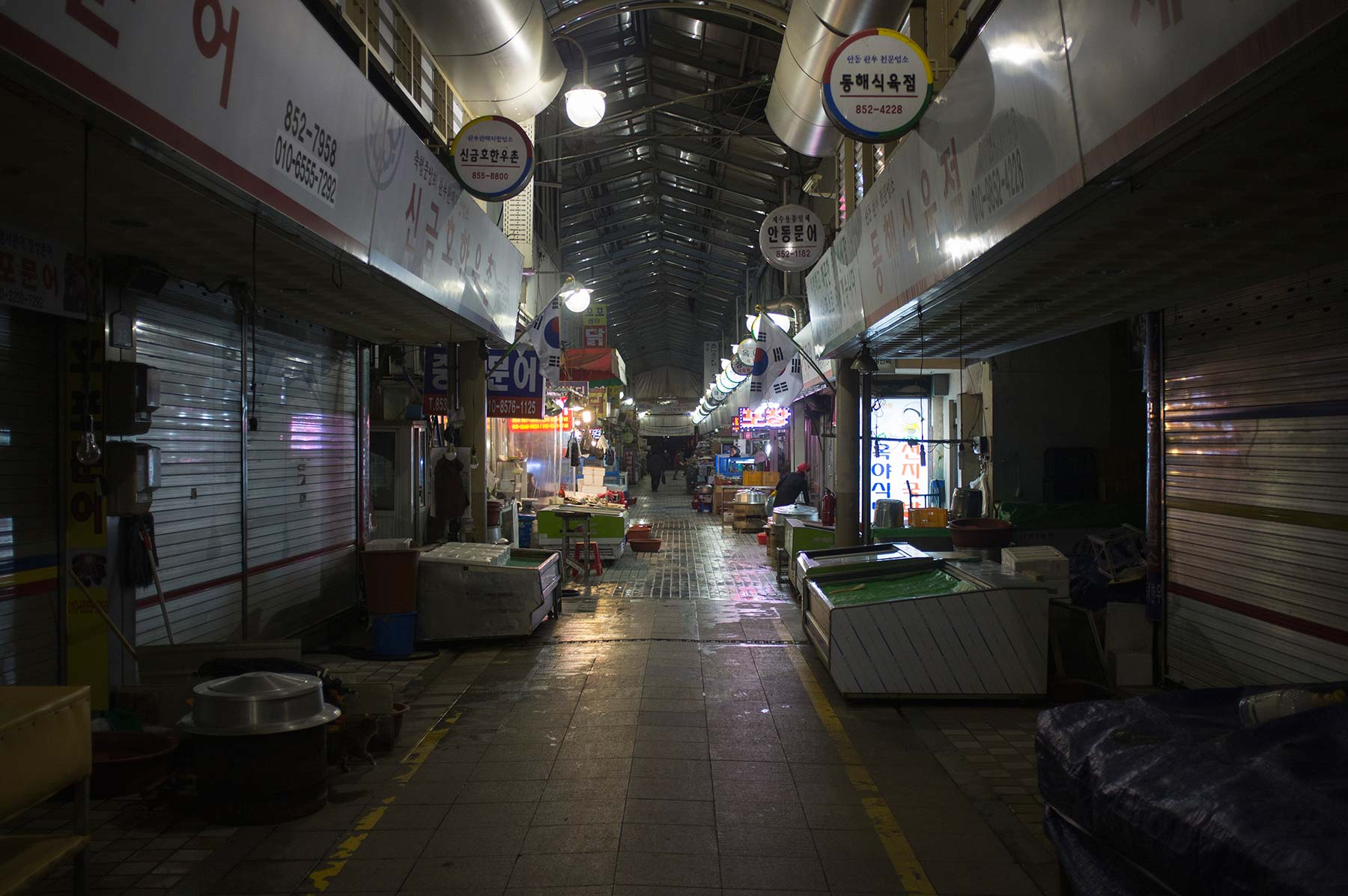 Andong street market in the evening.