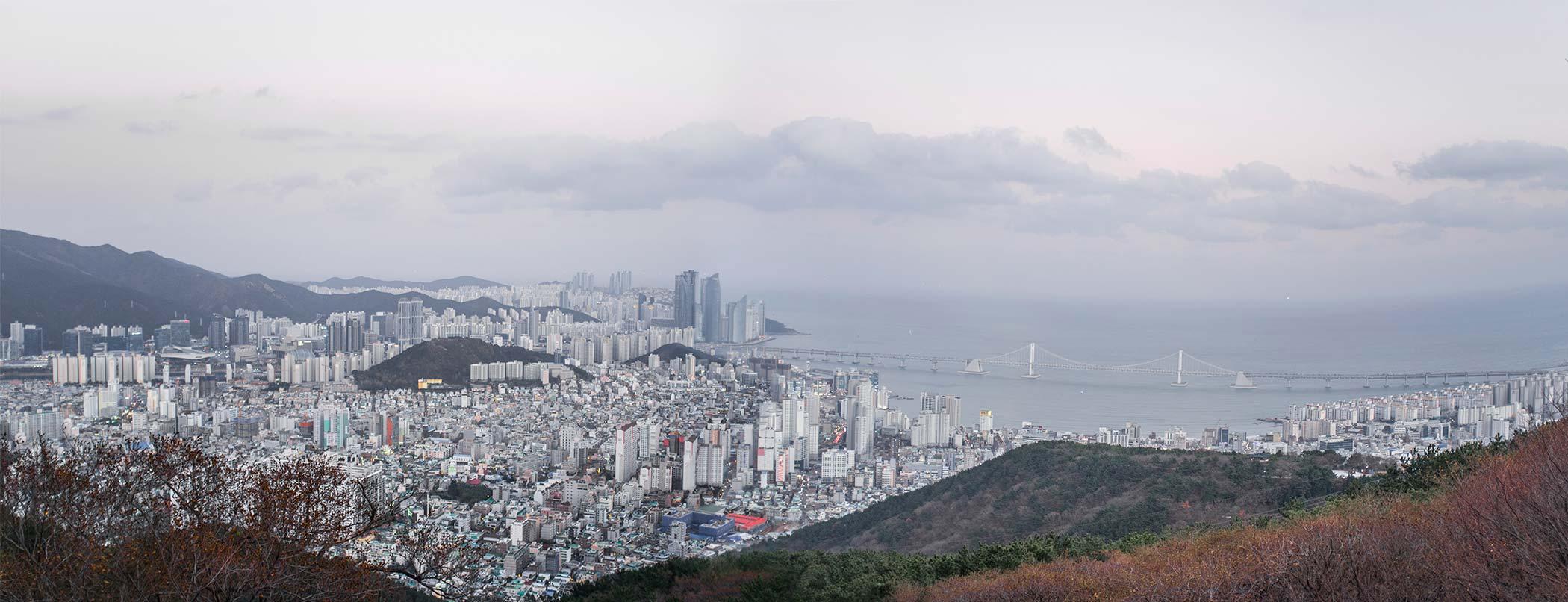 Panorama of Busan.