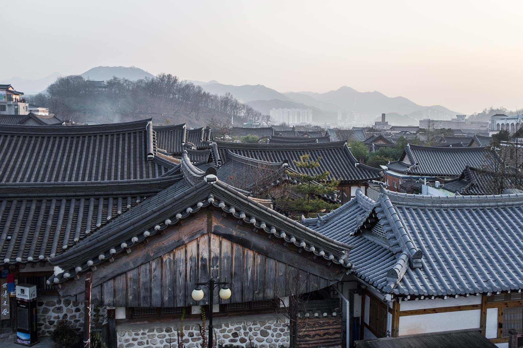 View on Hanok village.